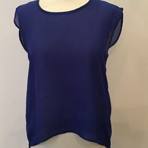 Women's royal sheer blouse sz M